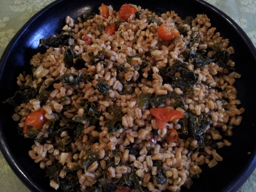 Farro and Kale Pilaf
